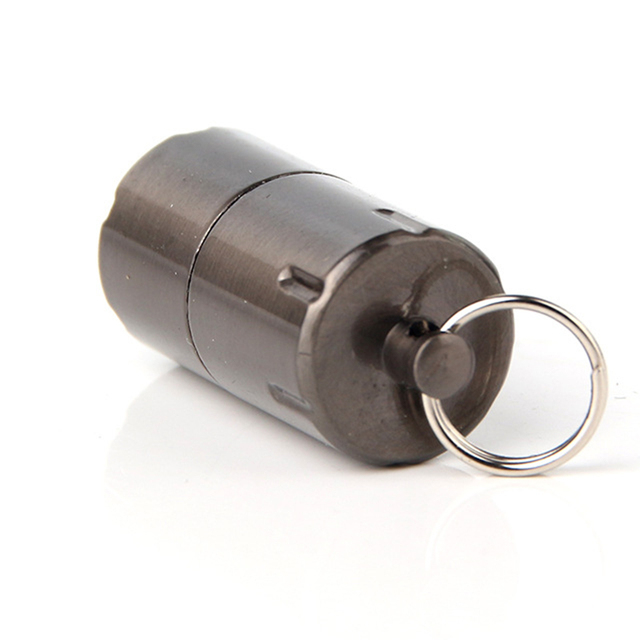 Mini Compact Kerosene Lighter Key Chain Capsule Gasoline Lighter Inflated Keychain Petrol Lighter Outdoor Tools