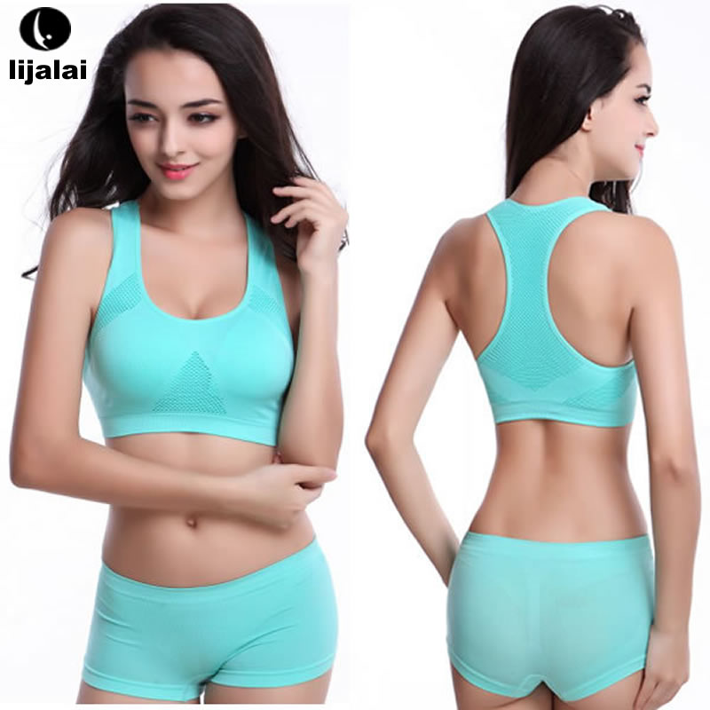 e408a8a98a LJL The new Running Shorts With Sports Bra Yoga Clothing Suits Set Fitness  Clothing Vest Tracksuit Set Sportswear Workout Set on Aliexpress.com