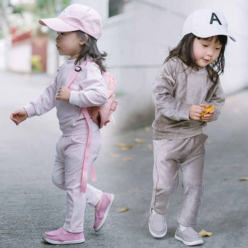 Spring Kids Tracksuit for Boys Autumn Girls Clothing Set Round Collar Boys Sport Suits Pink Long Sleeve Cute Suit for Baby Girls 14ft round safety net spring pad ladder optional basketball set trampoline for kids