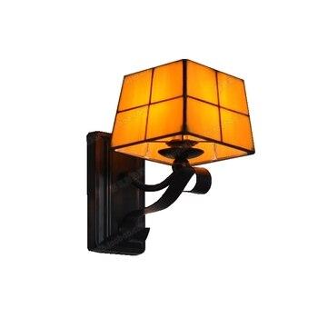 جديد الحديثة الحد الأدنى الجدار مصباح تيفاني السرير أوبال الزجاج مصباح الممر الإبداعية موضة الإضاءة خلفية الممر فندق