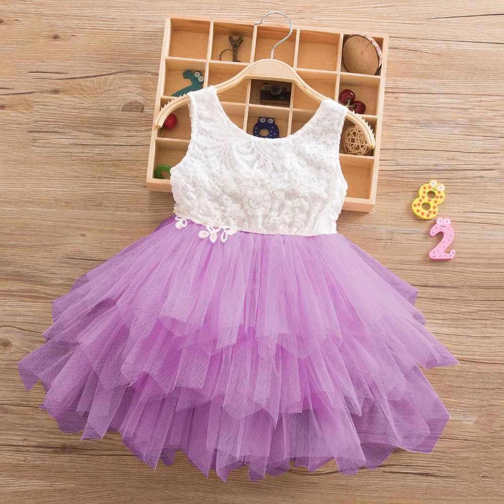 Vestido De Tul De Encaje De Verano Para Niñas Trajes De Princesa Disfraz Para Niños Vestidos Florales De Playa Ropa Para Niñas 2 6y