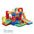 Mejor calidad castillo hinchable castillo inflable con doble tobogán para niños juguetes inflables para niños, trampolín de salto de circo inflables