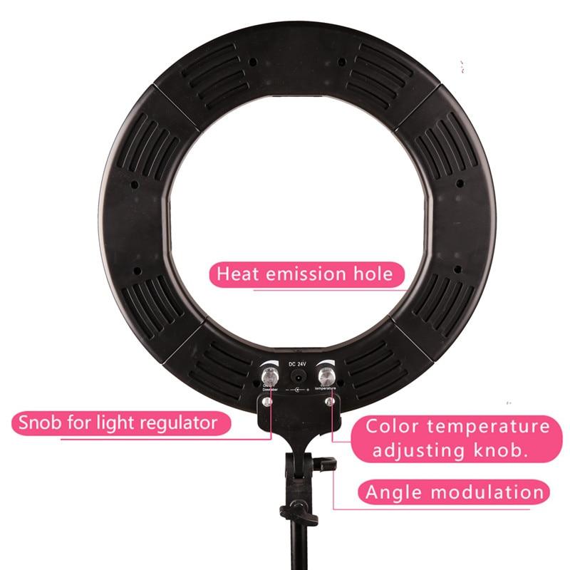 GSKAIWEN RL-12 3200K-5500K Fotografi Studio Ring Lampa Med Stativ - Kamera och foto - Foto 3