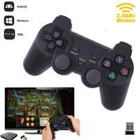 Cewaal Hot 2,4G Gamepad inalámbrico PC para PS3 caja de TV Joystick 2,4G mando a distancia Joypad para xiaomi Android