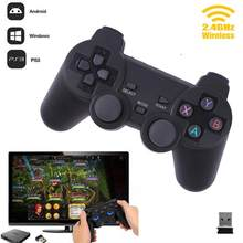 Cewaal Hot 2.4G Sem Fio Caixa de TV Joystick Gamepad PC Para PS3 2.4G Joypad Game Controller Remoto Para Xiaomi android(China)