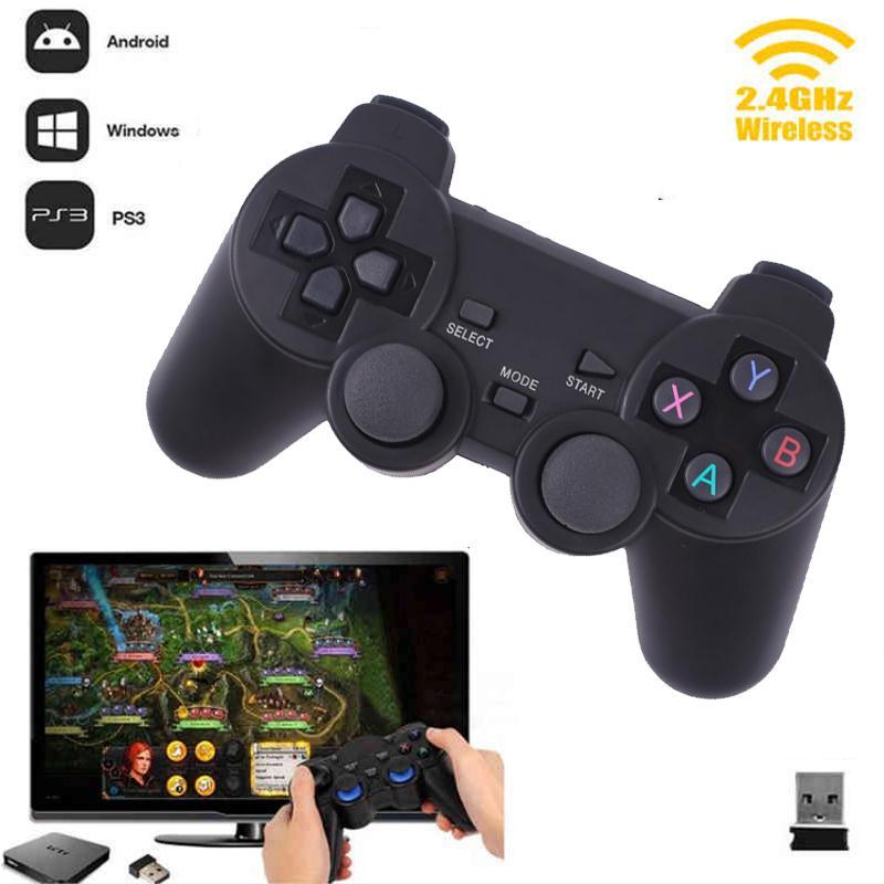 Cewaal caliente 2.4g inalámbrico GamePad PC para PS3 TV joystick 2.4g joypad del regulador del juego remoto para xiaomi android PC Win 7 8 10
