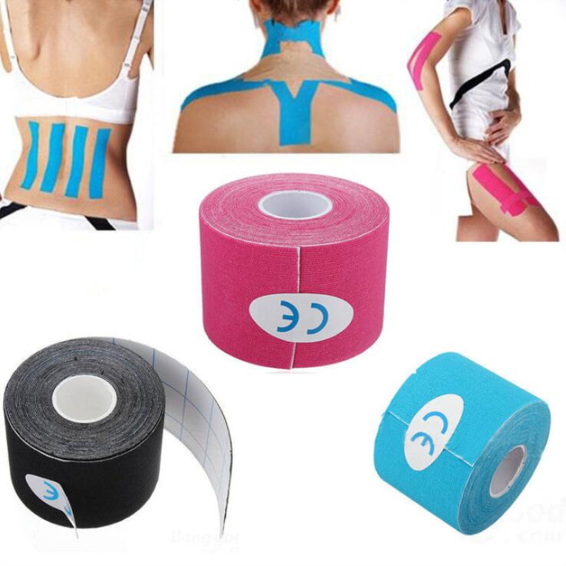 2 Size Waterproof Tape Sport Recovery Tape Strapping Gym Fitness Tennis Running Knee Muscle Protector Accessories