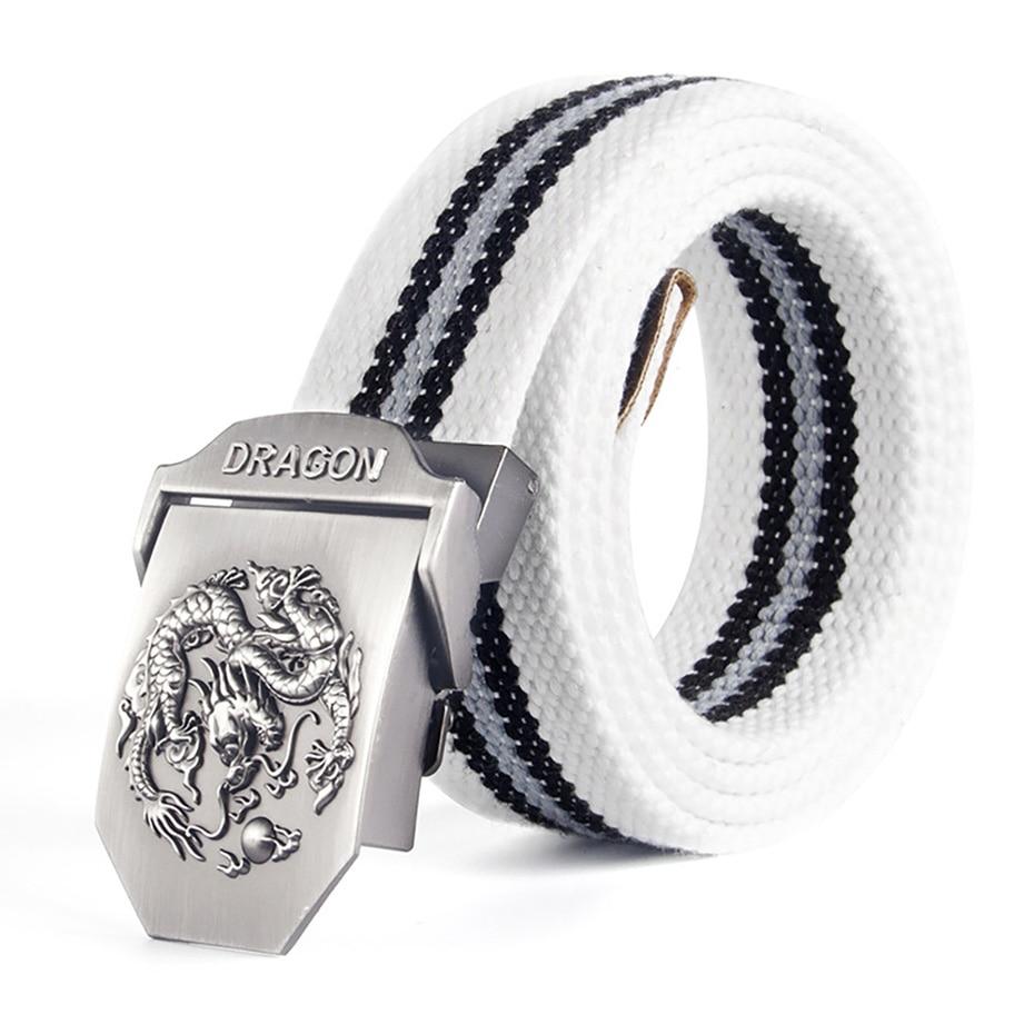 2018 Men Belt Dragon Tactical Belt Canvas Cintos Cintura Correa Tactics Rem Jeans Belts For Men Canvas Buckle Belt Military