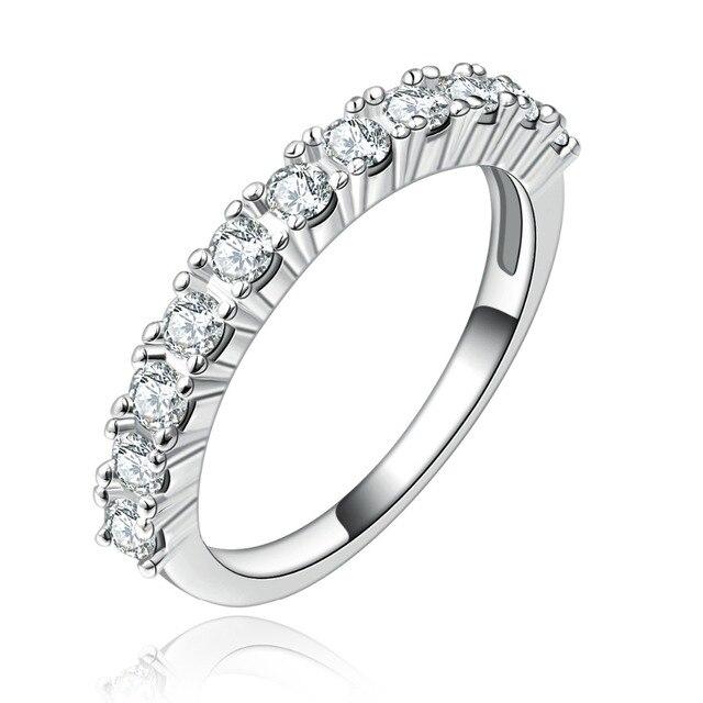 Hochwertige Versilberte Mit Einfacher Satz Von Zirkon Ring Hochzeit