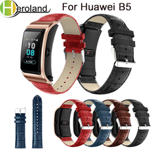 Accessories leather For Huawei B5 Smart WatchStrap Watch Band wristband Bracelet Wrist Genuine Crocodile belt