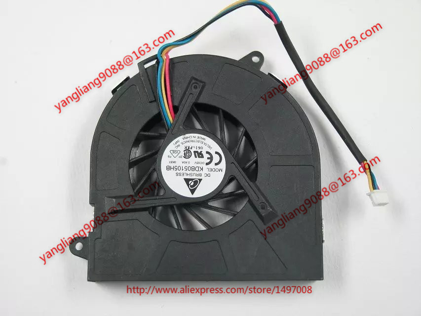 Delta KDB05105HB 9K61 DC 5V 0.4A Server Laptop fan 4-wire free shipping for delta ffr1212dhe sp02 dc 12v 6 3a 120x120x38mm 4 wire car booster fan