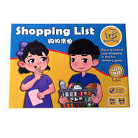 Shopping List Puzzle Board Game Children's Educational Board Game Toys for Kid Child English/Chinese