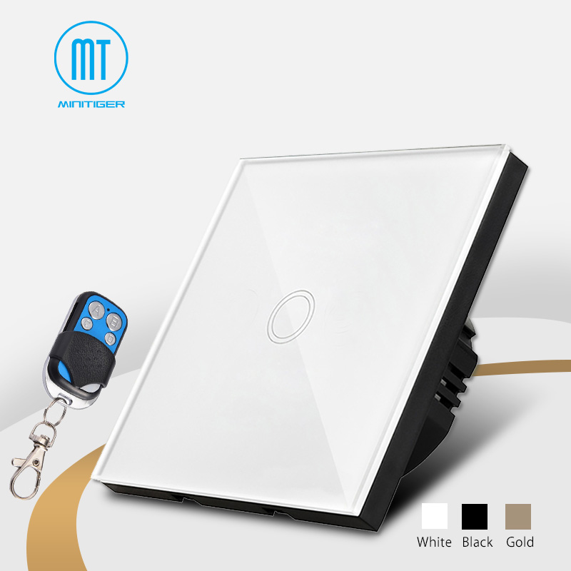 Smart home Touch Switch,EU Standard 1 Gang 1 class White Crystal Glass Panel, AC170~250V, LED indicator,Touch Screen Switch new design touch screen electric curtain switch white crystal glass panel blue led indicator uk standard