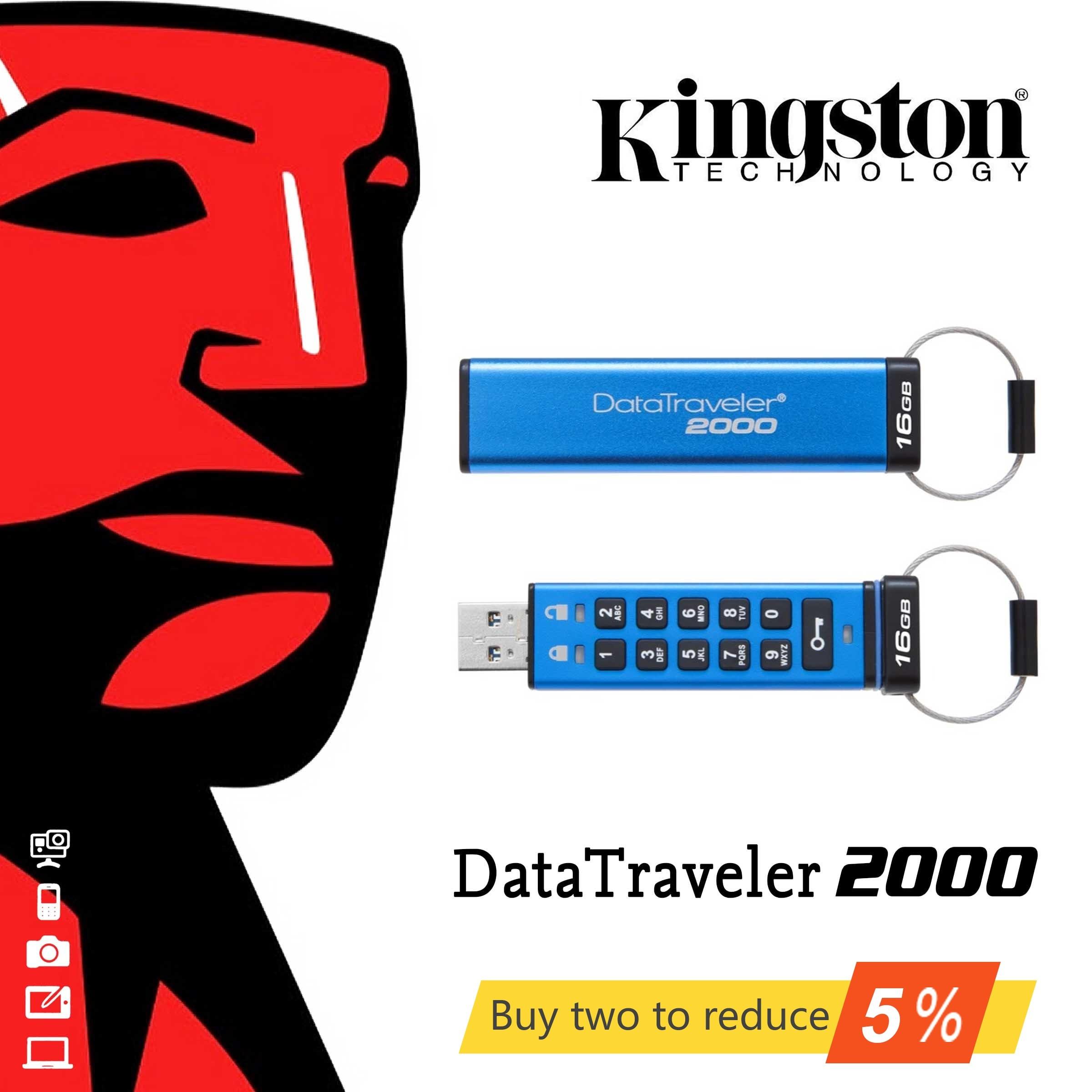 Original Kingston 16GB 32GB high speed USB3.1 enterprise class encryption business USB flash drive u disk DT2000 PenDrives