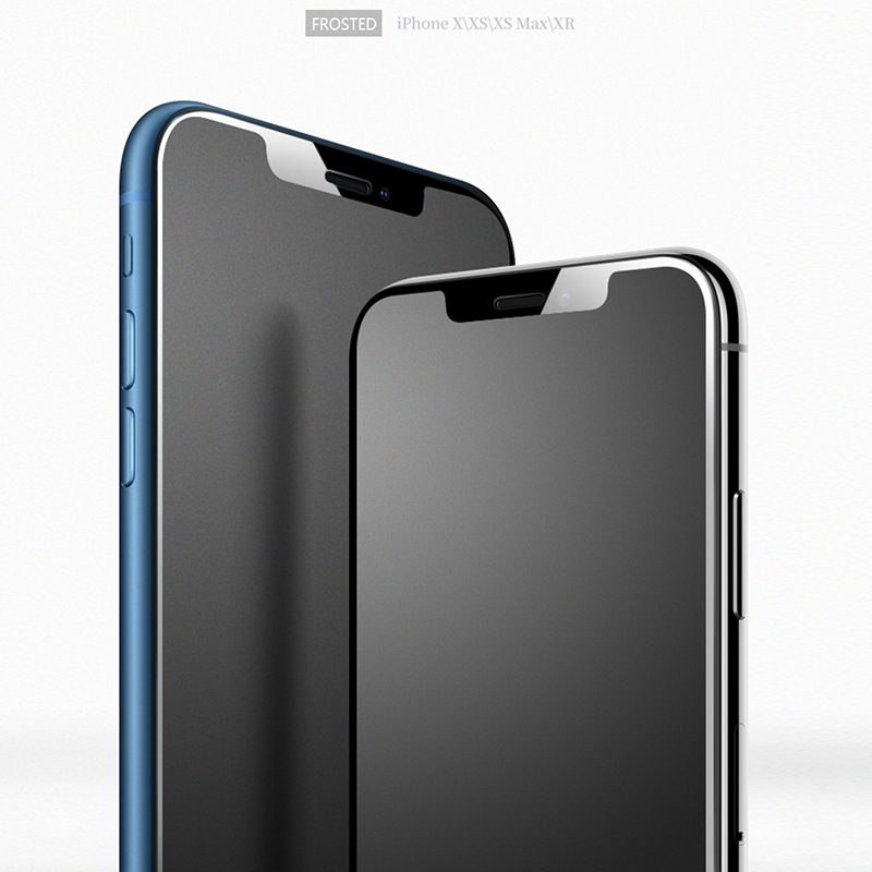 CHYI Full screen No fingerprint Glass For iphone XR Screen Protector Frosted Matte Glass for iphone X XS Max with Smooth edge iPhone XR