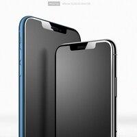 CHYI Keine fingerprint Glas Für iphone 12 Pro Max Volle Abdeckung Screen Protector Frosted Matte Glas für iphone 11 XR XS Glatte kante