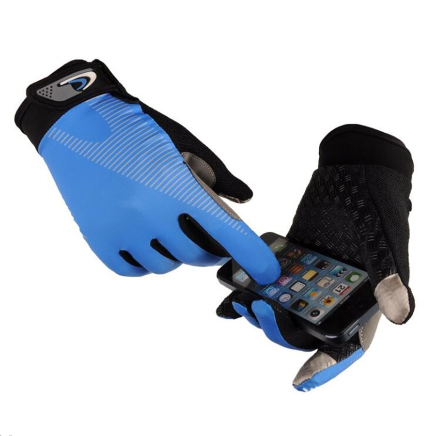 Full Finger Touch Screen Safety Gloves For Road Mountain Gloves Bicycle Gel Pad Gloves Breathable ice silk китаро kitaro silk road 1