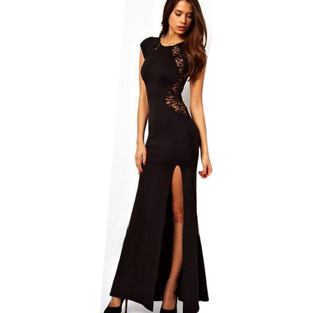 2774a758cf Wholesale New Fashion Elegant Celeb Lace Slim Patchwork Slit Pencil Sexy  Party Evening Women Long Dresses-in Dresses from Women s Clothing on  Aliexpress.com ...