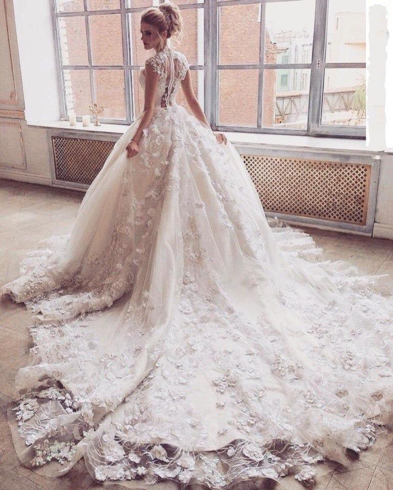 Chic Pic Floral Applique Mariée Formelle Robe Noiva De Blanc Soirée Same Longo Longue Casamento As x0YzH6qY