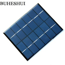 BUHESHUI 2W 6V 330mA Mini Polycrystalline Solar Panel 2Watt 6Vdc Small Resin Solar Cell Module 24pcs/lot Wholesale Free shipping