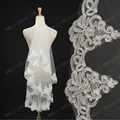 TS3101mantilha noiva velo voile mariage White cheap wedding Bridal Short Fashion Bride Veil New Free Shipping
