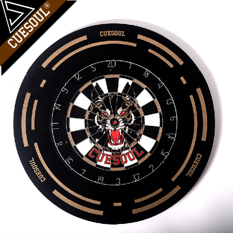 Cuesoul Professional Dart Board 18 Inch Dartboard Fit For Steel Tip Darts With Protector And 2 Sets Darts rowsfir dart board 6 darts set funny play dartboard soft head darts board game toy fun party accessories gambling new year gift