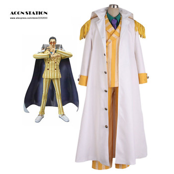 2018 Customize for adults and kids  Free Shipping White One Piece Kprusoian Halloween Cosplay Costume One Piece Marines Cosplay