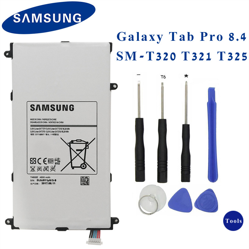 SAMSUNG Original Tablet Battery T4800E For Samsung Galaxy Tab Pro 8.4 in SM-T321 T325 T320 T321 Replacement Battery 4800mAhSAMSUNG Original Tablet Battery T4800E For Samsung Galaxy Tab Pro 8.4 in SM-T321 T325 T320 T321 Replacement Battery 4800mAh