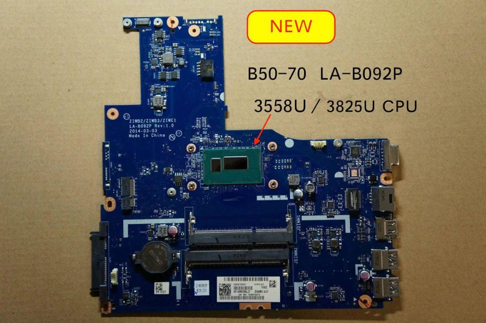 Working Perfectly ZIWE1 ZIWB2 ZIWB3 LA-B092P For Lenovo B50-70 B50-80 Laptop Motherboard 3825U 3558U