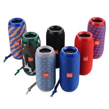 все цены на TG117 Portable Outdoor Speaker Subwoofer Waterproof Bluetooth Wireless Column Loudspeaker Box Support TF Card FM Radio Aux Input онлайн