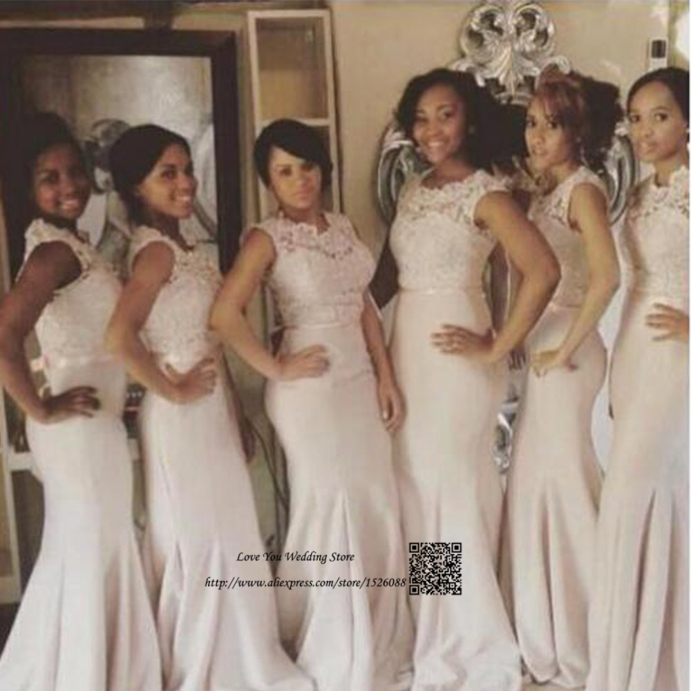 2017 african mermaid champagne bridesmaid dresses long lace 2017 african mermaid champagne bridesmaid dresses long lace wedding party gowns imported china robe demoiselle dhonneur in bridesmaid dresses from weddings ombrellifo Images
