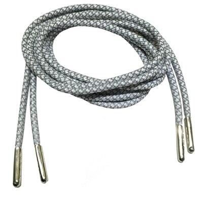 3м Reflective Runner круглые шнурки для ботинок, длина с серебряными наконечниками с металлическим наконечником с фактурой советы - Цвет: White
