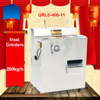 QRLS 400 11 1500W Electric Stainless Steel Multi Purpose Stainless Steel Slicer Straw Commercial Mincer Stainless
