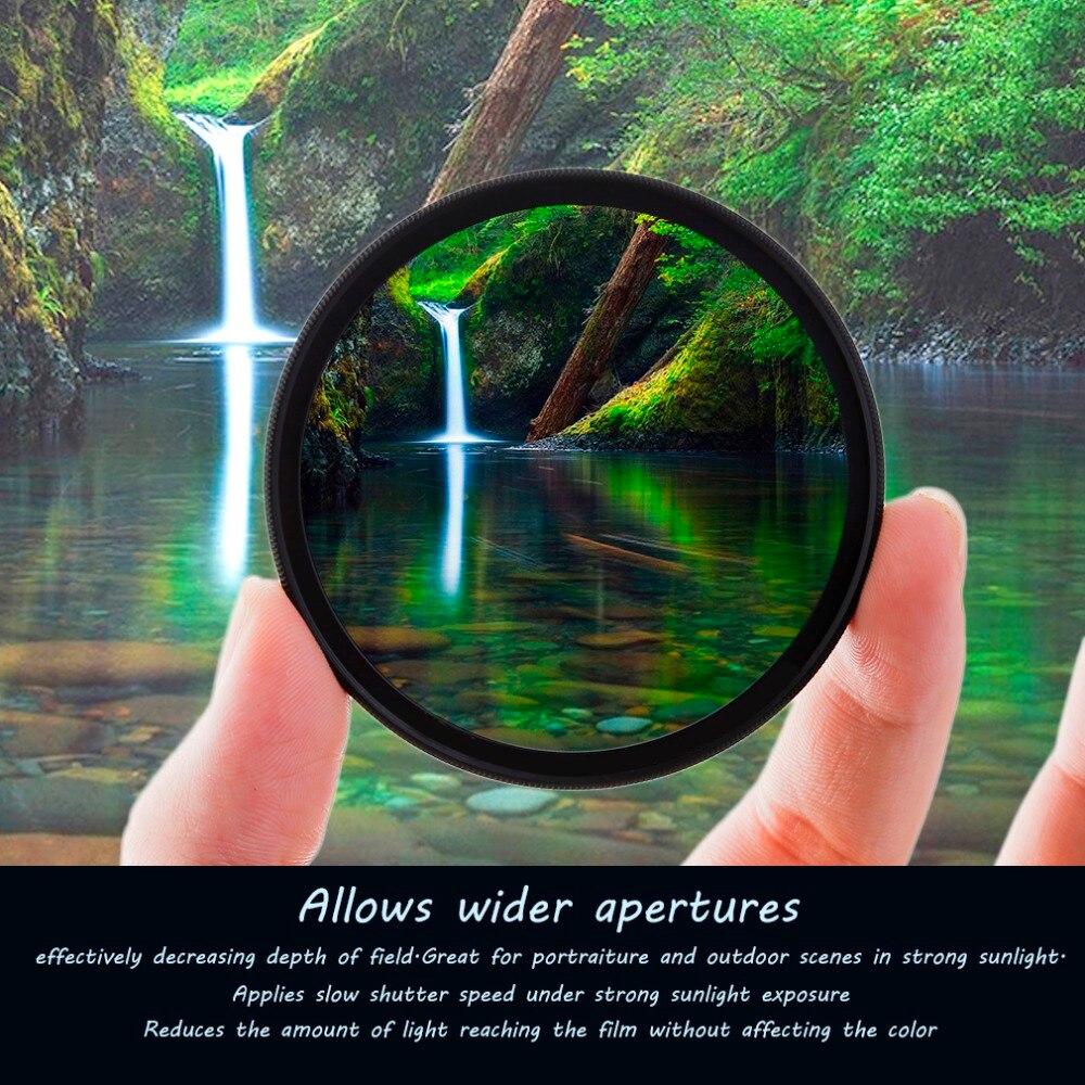 Super Sottile 49/52/55/58/62/67/72/77 MM Impermeabile Circolare polarizzatore CPL Camera Lens Filter Per Canon Per Sony Obiettivo Della Fotocamera