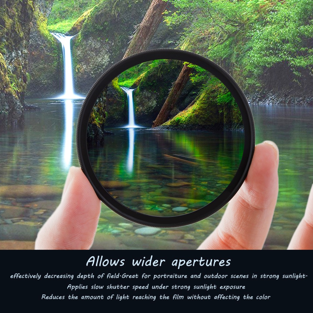 Super Thin 49/52/55/58/62/67/72/77MM Waterproof Circular Polarizer CPL Camera Lens Filter For Canon For Sony Camera Lens