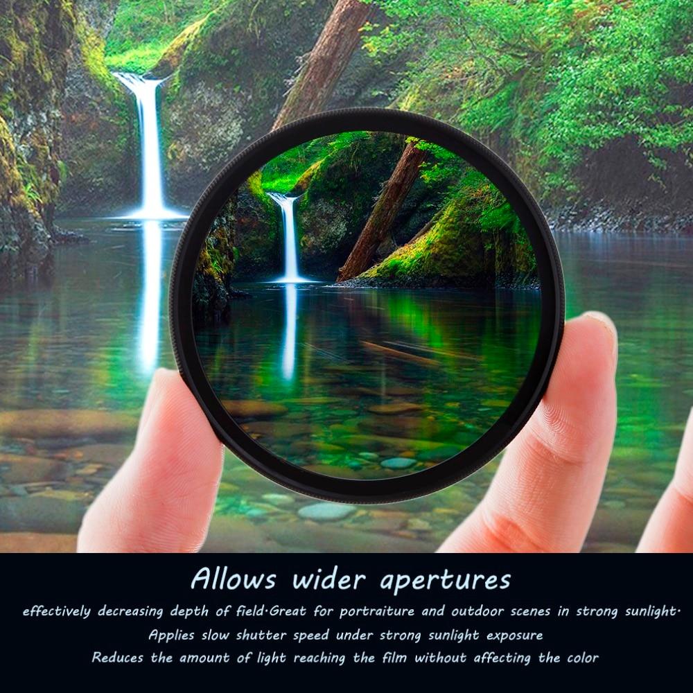 Super delgada 49/52/55/58/62/67/72/77mm impermeable Circular polarizador CPL Filtro de lente para Canon para Sony Cámara lente