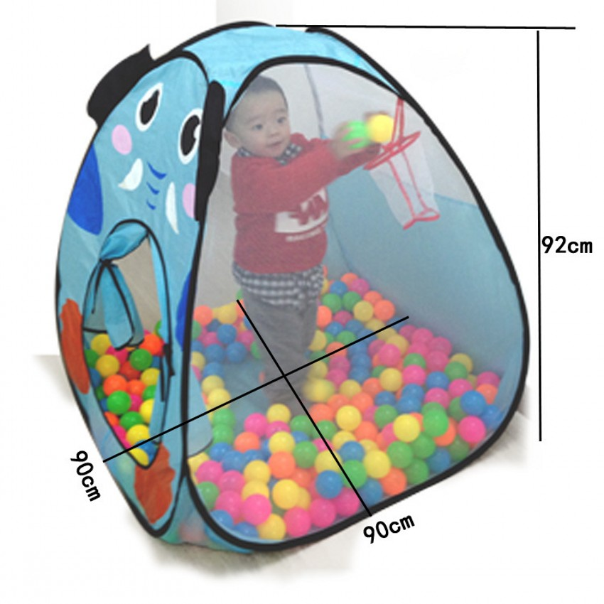 Hot Sale Foldable Cartoon Indoor Safe Game Play House Tents Kids Baby Ocean Ball Pit Pool Tent Play Toy Tent Without Balls