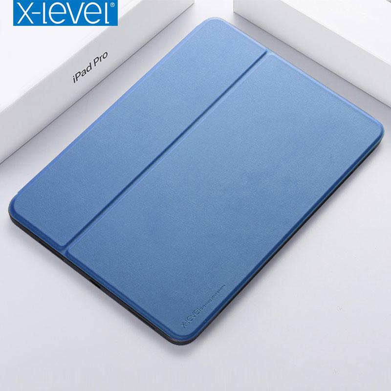 €14.93 30% СКИДКА|Кожаный флип чехол X Level для iPad Pro 11, 12,9 дюймов с подставкой, Ультратонкий чехол для iPad Pro, 12,9 2018, Функция Smart Sleep|Чехлы для планшетов и электронных книг| |  - AliExpress