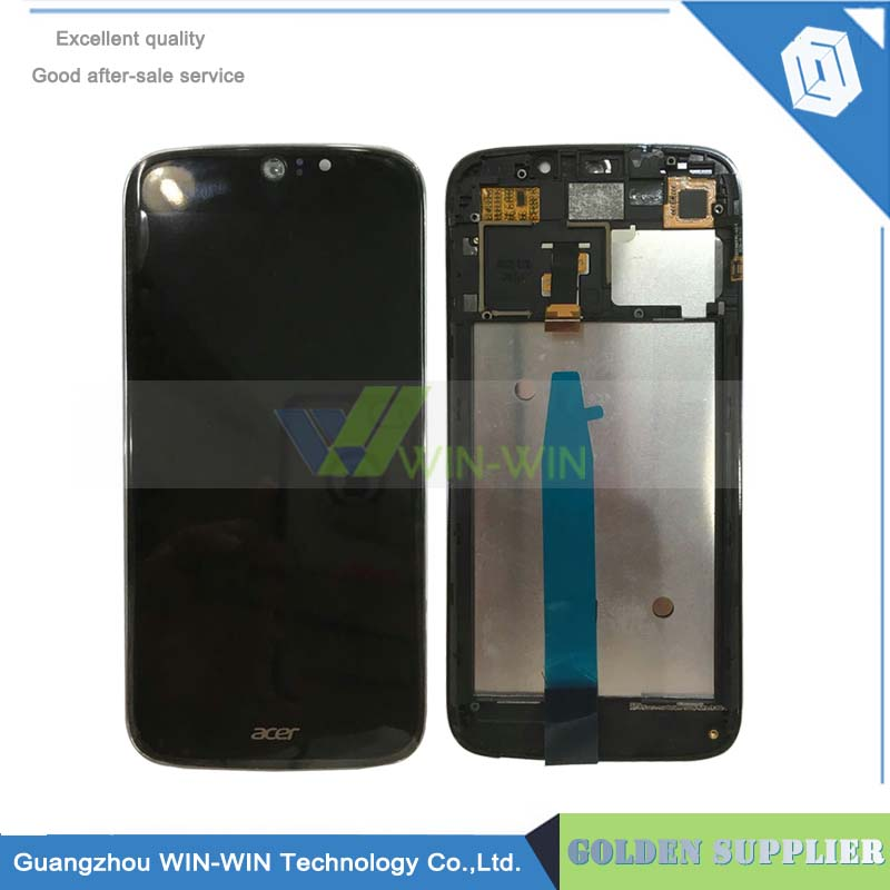 New Replacement lcd For Acer Liquid Jade Z S57 LCD Display Digitizer Panel Frame Black Free Shipping wholesale price for acer liquid jade s55 lcd display digitizer touch screen for acer liquid jade lcd free shipping