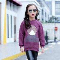 Cachemira del espesamiento mujer niños ropa de otoño invierno Bebé rendering sin forro superior traje-vestido crianza Camisetas niños
