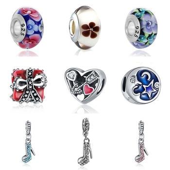 Cuentas de bisutería compatibles con Pandora para fabricación de joyas, brazaletes, cuentas francesas, Perfumes, joyas Originales para Mujer, dijes de pulsera