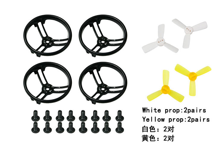 1.9 Inch Propeller Prop Guard Protector Bumper+2 Pairs cw ccw Propellers Set for 1103 1104 Motor DIY Aircraft Model Accessories 4045 propellers prop cw ccw black