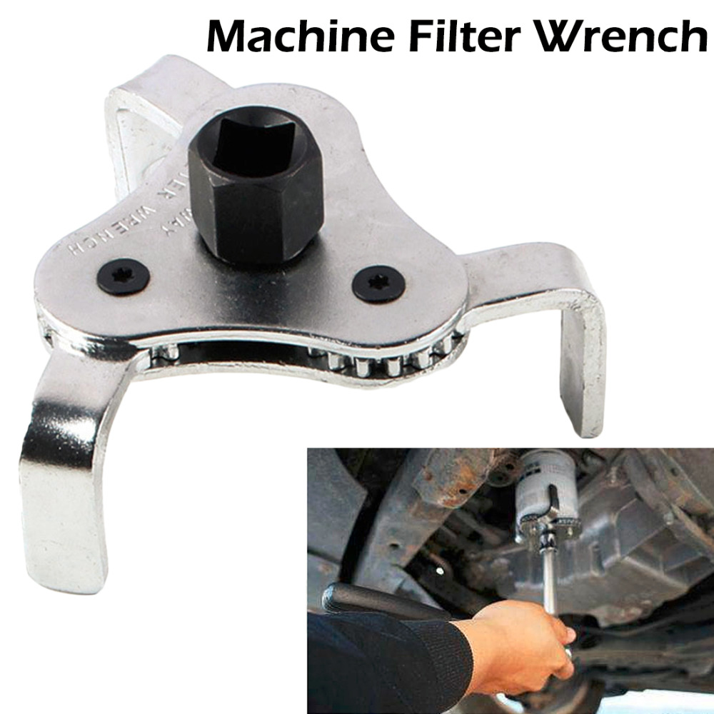 Adjustable Two Way Oil Filter Wrench 3 Jaw Remover Tool Car Repair Tools Auto Oil Filter Wrench For Cars Trucks 55MM-108mm