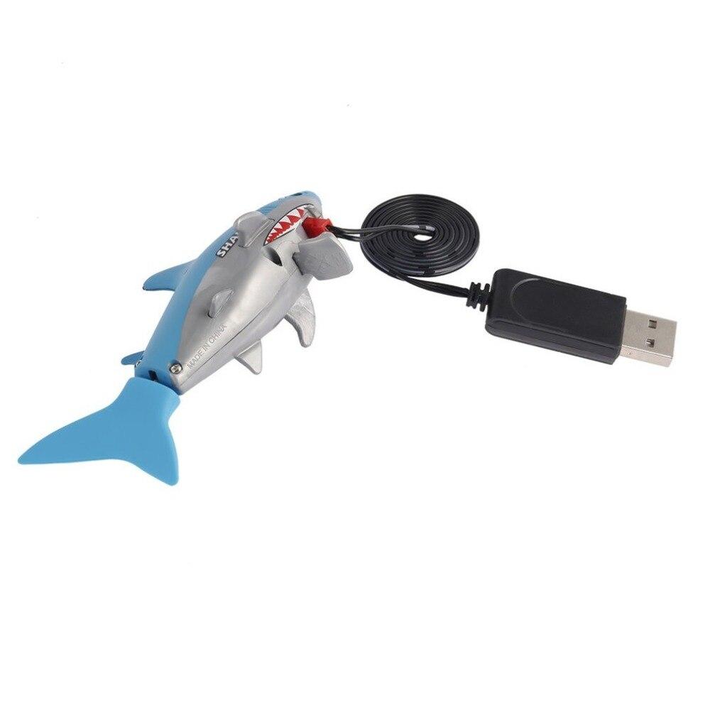Mini RC Submarino 4 CH remotos peque/ños Tiburones Remoto Juguete de Control con el Gran USB para Ni/ños Ni/ños