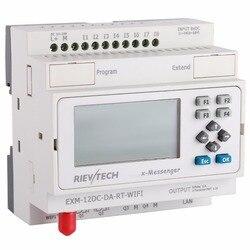 WIFI PLC ، الحل المثالي للتحكم عن بعد والرصد والتطبيقات المثيرة للقلق ، المدمج في القدرة على إيثرنت EXM-12DC-DA-RT-WIFI
