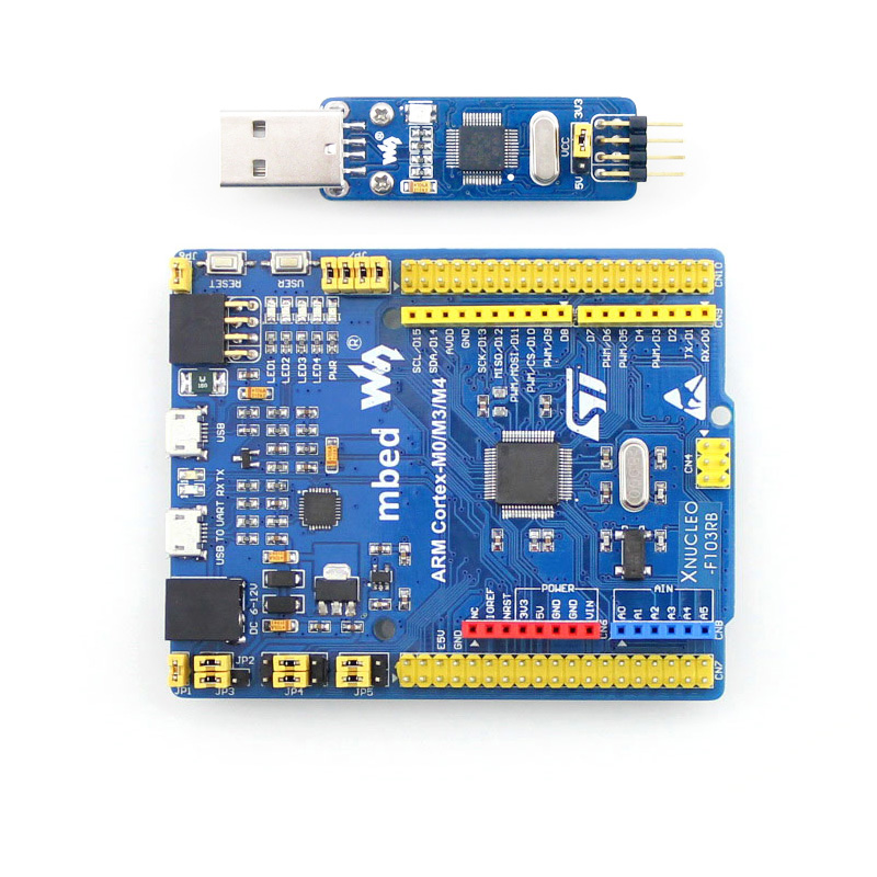 XNUCLEO-F103RB STM32 Development Board STM32F103RBT6 ARM Cortex M4 Comes With ST LINK V2 Compatible With Original NUCLEO