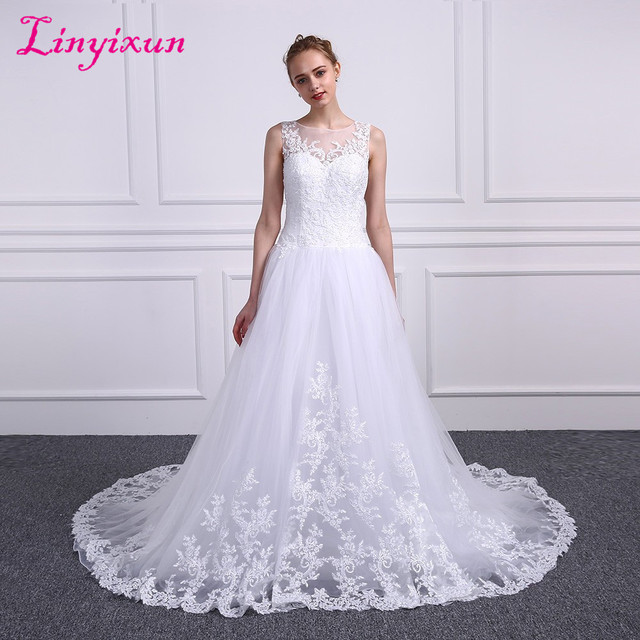 Vintage Cheap Amelia Sposa Wedding Dresses Bridal Gown Scoop Ruffles Gowns Sleeveless Layered Lace Dress