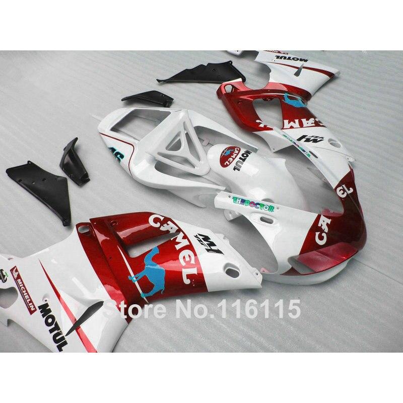 все цены на Injection molding high quality ABS fairings set for YAMAHA 1998 1999 YZF-R1 white red CAMEL YZF R1 98 99 full fairing kit NF45
