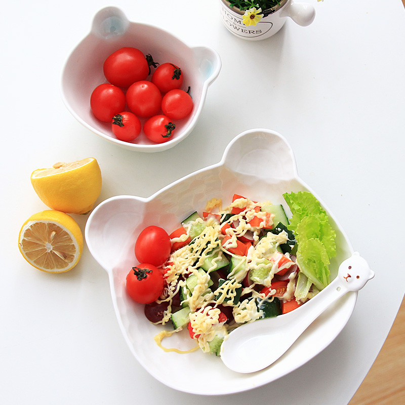 Vaisselle en céramique ensemble assiette bol | Adorables personnes qui mangent une ménage japonaise, ensemble de repas pour enfants étudiants