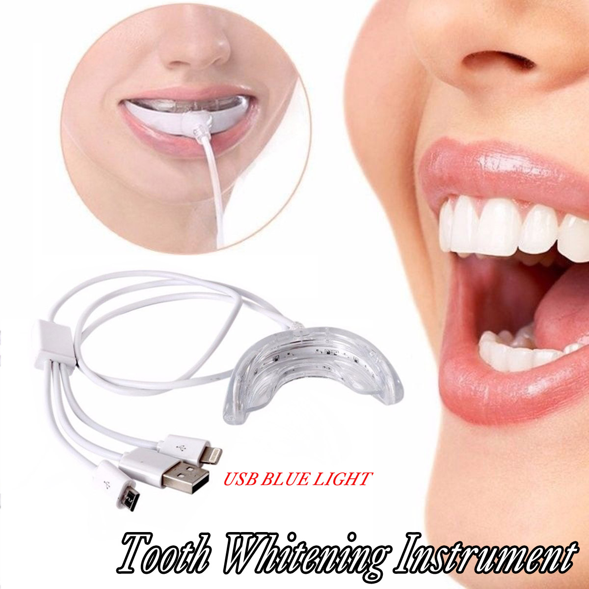 Usb Efficient Blue Light Tooth Whitening Instrument Cold Led Light Lamp Care Bleaching Teeth Accelerator Dental Instrument Oral Irrigators Aliexpress
